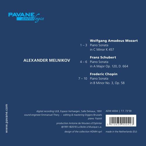 Mozart / Schubert / Chopin: Three Sonatas - Alexander Melnikov