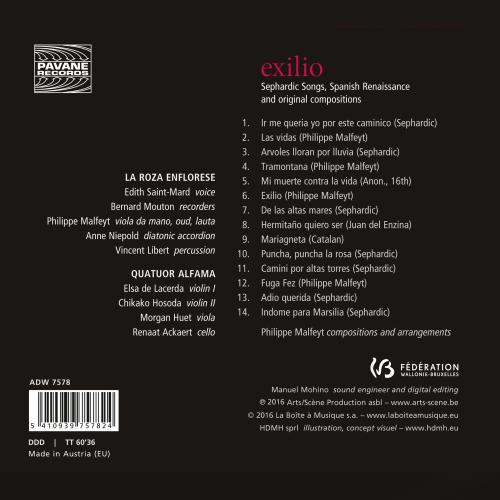 Exilio - La Roza Enflorese, Quatuor Alfama