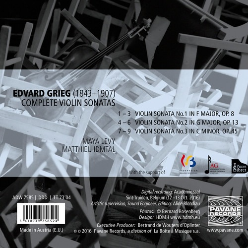 Grieg: Complete Violin Sonatas - Maya Levy & Matthieu Idmtal