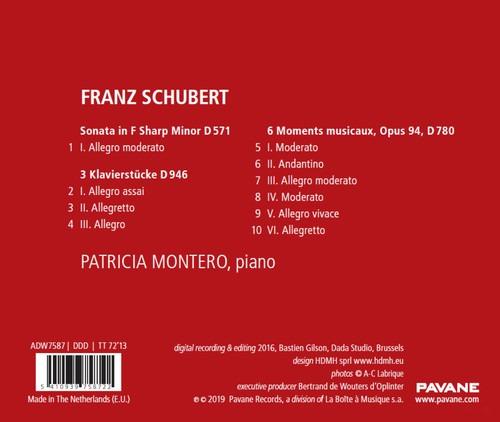 Schubert: Piano Sonata D571, 3 Klavierstücke, 6 Moments Musicaux - Patricia Montero