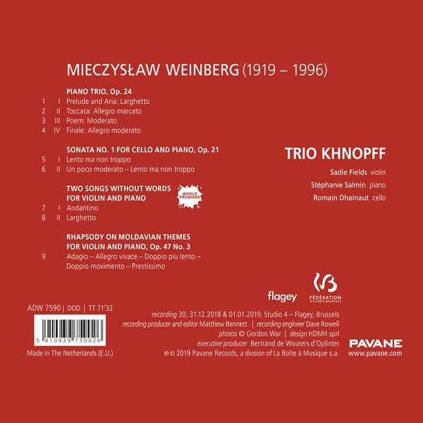 Weinberg: Chamber Music - Trio Khnopff