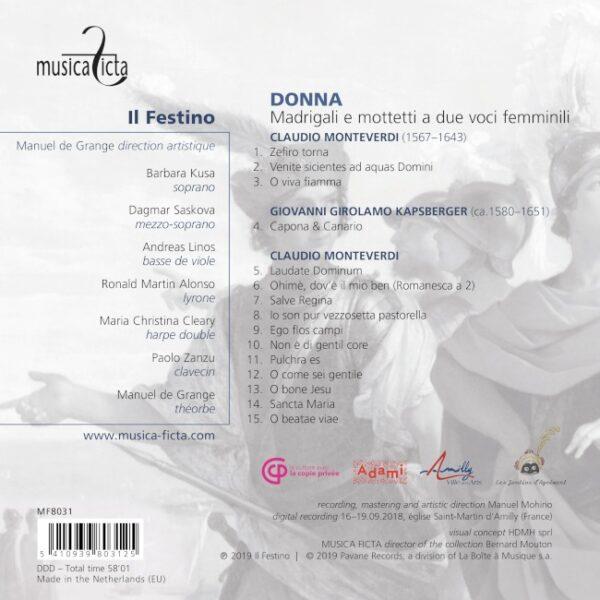 Monteverdi: Madrigali e mottetti a due voci femminili - Il Festino