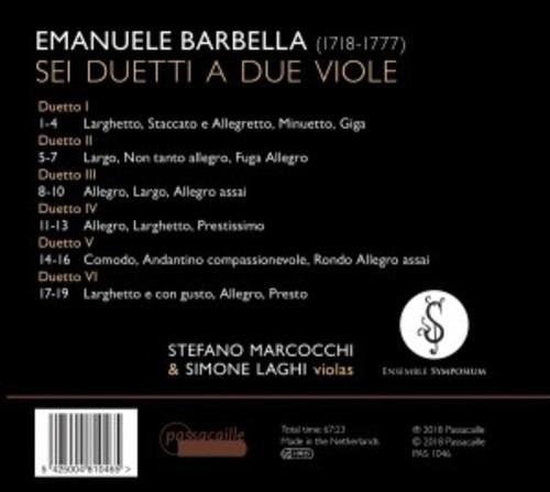 Emanuele Barbella: Sei Duetti A Due Viole - Stefano Marcocchi