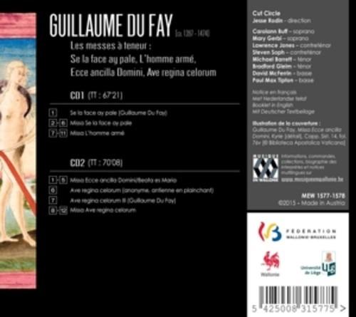 Guillaume Du Fay: Les Messes A Teneur - Cut Circle / Rodin