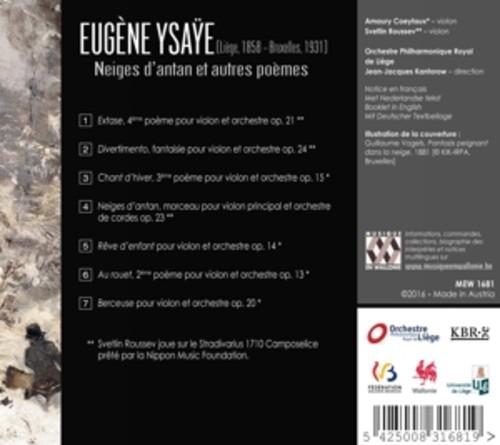 Eugene Ysaye: Neiges D'Antan - Svetlin Roussev
