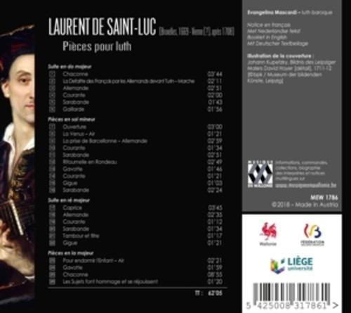 Laurent De Saint-Luc: Pièces Pour Luth - Evangelina Mascardi