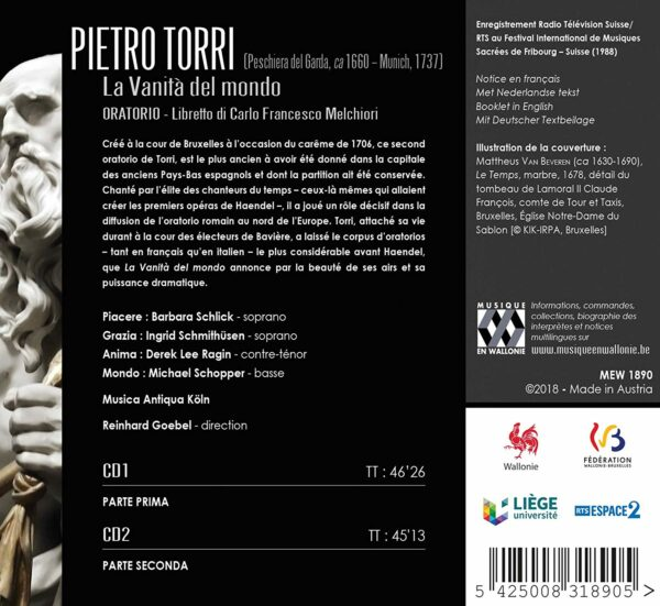Pietro Torri: La Vanita Del Mondo - Reinhard Goebel
