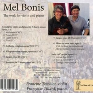 Mel Bonis: The Work For Violin & Piano - Francine Trachier