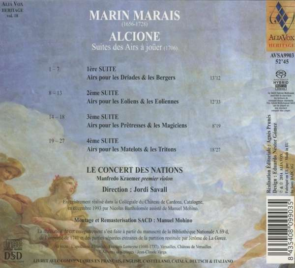 M. Marais: Alcione - Le Concert Des Nations / Savall