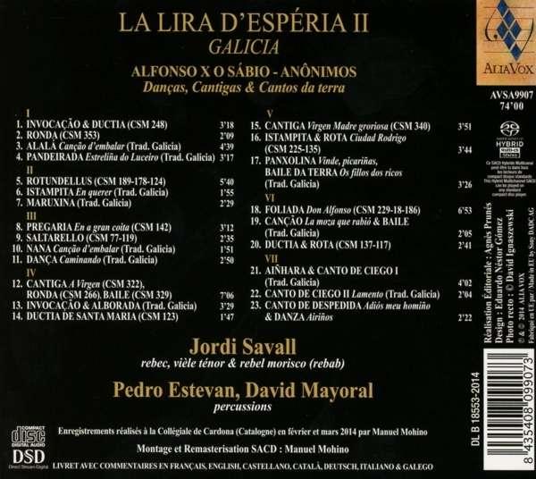 La Lira D'Esperia Vol.2 - Savall