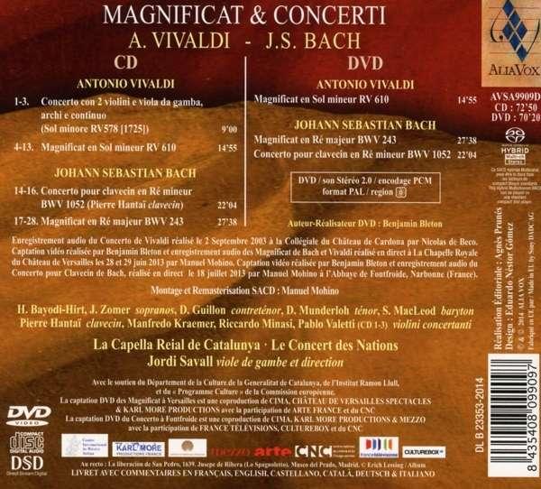 Vivaldi Bach: Magnificat & Concerti - Capella Reial De Catalunya / Savall