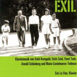 Exil. Korngold, Schoenberg, Castelnuovo-Tedesco : Œuvres pour piano. Le Van.