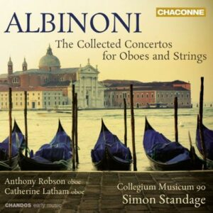 Tomaso Giovanni Albinoni : Concertos pour hautbois et cordes