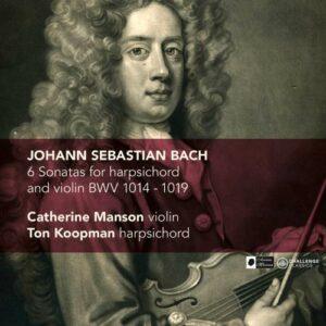 Bach : Six Sonates pour clavecin et violon, BWV 1014-1019. Koopman, Mason.