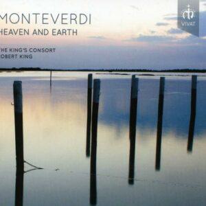 Heaven and Earth. Monteverdi : Arias et madrigaux. Sampson, King's Consort, King.