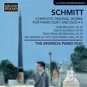 Florent Schmitt : Oeuvres pour duo de piano et piano à 4 mains (Intégrale - volume 4)