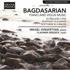 Eduard Bagdasarian : Musique pour piano et pour violon