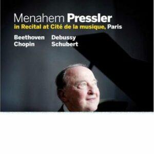 Menahem Pressler : Beethoven, Chopin, Debussy.