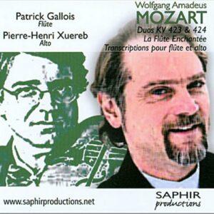 Wolfgang Amadeus Mozart : Transcription pour flûte et alto