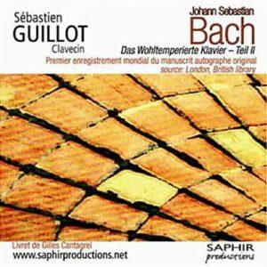 Bach : Le clavier bien tempéré, Livre II. Guillot.
