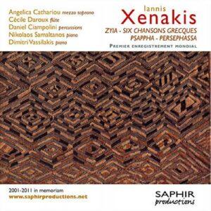 Xenakis : Zyia. Six chansons grecques. Vassiliakis.