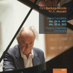 Mozart : Concertos pour piano n° 24 et 25. Badura-Skoda.