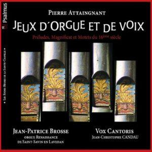 Jeux d'orgue et de voix. Brosse, Vox Cantoris.