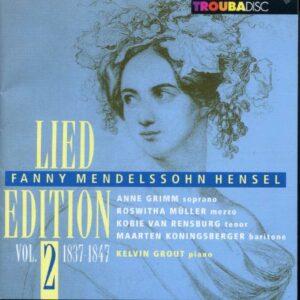 Fanny Mendelssohn-Hensel : Lied Edition 1837-1847, vol. 2