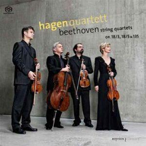 Beethoven : Quatuors à cordes n° 3, 5, 16. Quatuor Hagen.