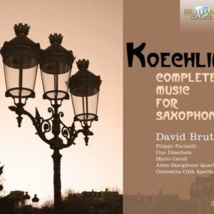 Koechlin : L'Œuvres pour saxophone. Farinelli.