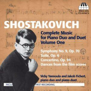 Dimitri Chostakovitch : Musique pour deux pianos et pour piano à quatre mains (Intégrale - volume 1)