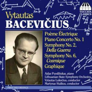 Bacevicius : Œuvres orchestrales. Lukocius.