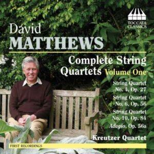David Matthews : Quatuors à cordes (Intégrale - Volume 1)
