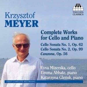 Krysztof Meyer : Œuvres pour violoncelle et piano (Intégrale)