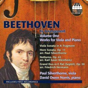 Ludwig van Beethoven : Arrangements pour alto et piano