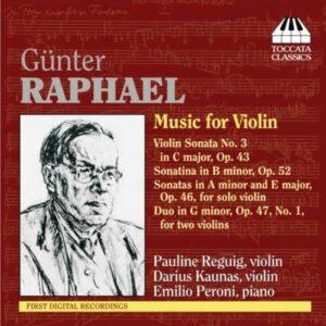 Raphael : Musique pour violon. Reguig, Kaunas.