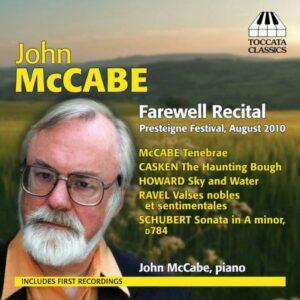 John McCabe, piano : Farewell Recital