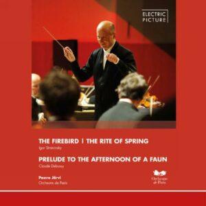 Stravinski : L'Oiseau de feu - Le Sacre du printemps. Debussy : Prélude à l'après-midi d'un faune. Järvi.