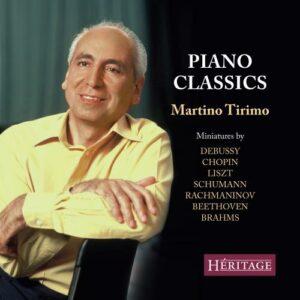 Martino Tirimo joue Debussy, Chopin, Liszt, Beethoven… : Miniatures pour piano.