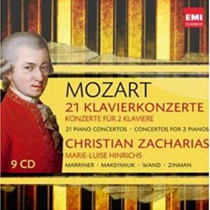 Mozart : 21 Concertos pour piano (5-6, 8-9, 11-19, 20-27), 2 Concertos pour 2 pianos, Sonate pour 2 pianos
