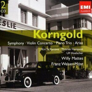 Korngold : Symph., Conc. Violon, Trio Piano, Much Ado About Nothing, Thème Et Variations, Arias