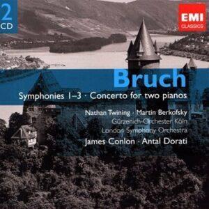 Bruch : Symph. 1-3, Conc. 2 pianos, Klavierstücke Op.12 & 14