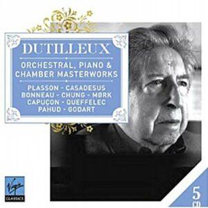 Dutilleux, chefs-d'œuvre de sa musique pour piano, orchestre et de chambre.