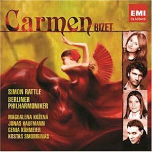 Bizet : Carmen. Kozena, Kaufmann, Kühmeier, Smoriginas, Rattle.