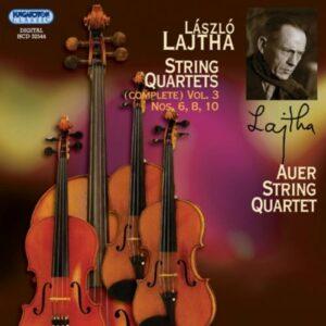 Lazslo Lajtha : Quatuors à cordes (Intégrale, volume 3)