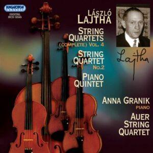 Laszlo Lajtha : Quatuors à cordes (Intégrale, volume 4)