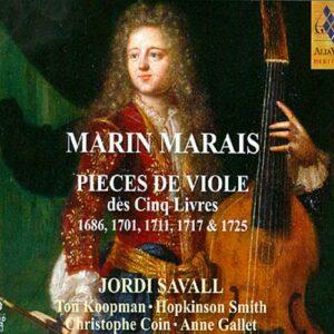 Marais : Pièces de violes des 5 livres. Savall.