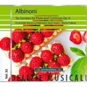 Tomaso Albinoni : Six Sonatas for Flute and Continuo