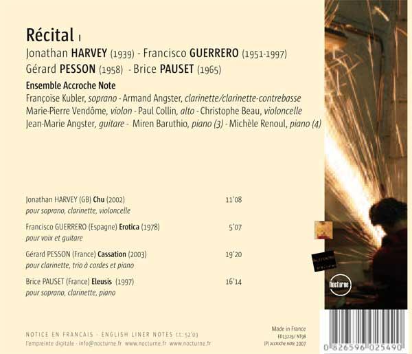 Recital-Interpreté Par L'Ensemble Accroche Note