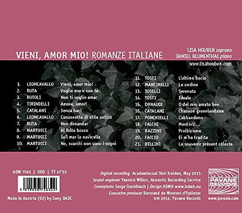 Vieni, Amor Mio! - Romanze Italiane. Houben, Blumenthal.